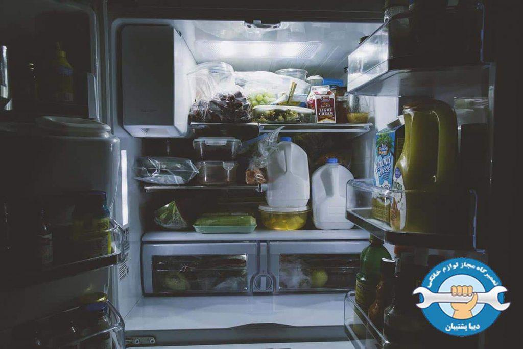 شل شدن مواد داخل فریزر در یخچال دوو